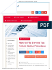 How to File Service Tax Return Online Procedure - Legal Adda