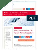 How to File Service Tax Return Online Procedure - Legal Adda