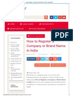 How to Register a Company or Brand Name in India - Legal Adda