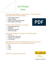 FIN 575 & FIN 575 Final Exam Questions & Answers - Studentwhiz