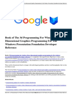 Download 3d Programming for Windows Three Dimensional Graphics Programming for the Windows Presentation Foundation Developer Reference.pdf