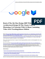 Download 3ds Max Design 2009 With the Architectural Design of the Classic Case of Photoshop Cs4 Tutorials With CD Rom Containing Video 1dvd Teachingchinese Edition.pdf