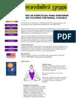 Kundalini Yoga - Ejercicios Para La Columna Vertebral