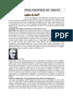 Cours de Philosophie Du Droit