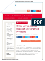 Online Udyog Aadhaar Registration _ Simplified Procedure - Legal Adda