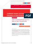 Open a Current Bank Account in a Bank as Sole Proprietorship - Legal Adda