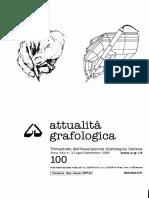 Attualità Grafologica n. 100-2006 Risposta a Tesi Big Five