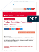 Product Based Sole Proprietorship Firm _ Lesson 4 - Legal Adda