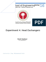 E5 - Heat Exchangers - Thermal Sciences Lab