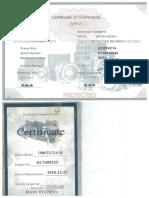 Certificate of Conformity Genset 100 Kva Lovol NWB-1