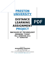 Distance Learning Assignment Project