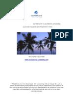Ayurveda Education and Treatment India