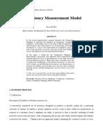 Competency Measurement Model