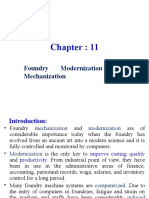 Chapter 11 (Foundry Modernization and Mechanization) 2003 Ppt