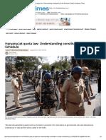 Haryana Jat Quota Law_ Understanding Constitution's Ninth Schedule _ India _ Hindustan Times