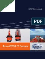Tron 40VDR Float Free Capsule Inst & Tech Manual