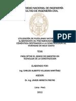 Ultilizacion de Puzolana
