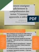 Comment Enseigner Explicitement La Comprehension Des Textes X Calvo