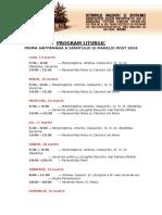 Program Liturgic POST 2016