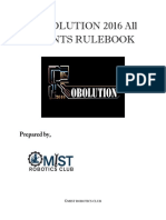 Robolution 2016 Rule Book