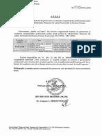 Anunt Promovare Administrator Financiar