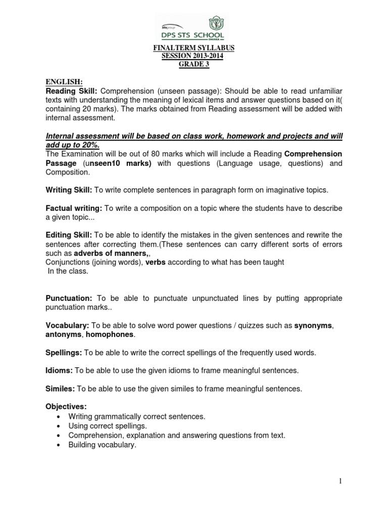 Gr3f Reading Comprehension Communication
