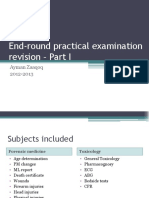End-round Practical Examination Revision Part I