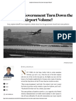 Should the Government Turn Down the Airport Volume