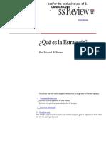 Qué Es La Estrategia - Michael Porter (1)