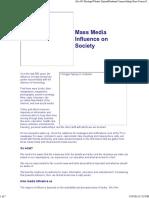 Media Influence on Society