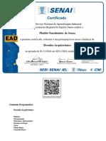 Certificado Senai