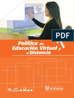 Politica Educacion Virtual Distancia