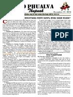Volume 06, Issue 26 - Christian Te in Christmas Pawi Bawl Huai Mah Hiam