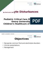 2011 Electrolyte Disturbances