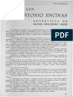 Diálogo Con José Antonio Encinas
