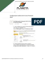 Configuração Outlook 2010 Com Protocolo IMAP - Planeta Serviços Digitais