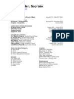 performance resume 2016