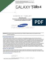 Galaxy Tab 4 7.0 GEN KK SM-T230 Spanish