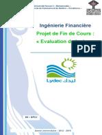 Rapport sur la santé financiere de LYDEC
