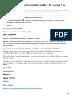 Eluniversal.com-Metro de Caracas Recibirá Billetes de Bs 100 Hasta El 2 de Enero(2)