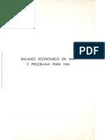 Primera Parte - Balance Económico de 1959 y Programa Para 1960