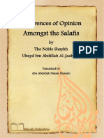 Miraath Publications Differences of Opinion Amongst the Salafis 2014