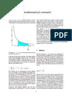 E (Mathematical Constant)