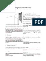 Feigenbaum Constants