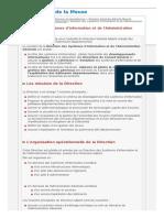 Direction Des Systemes d Information Et de l Administration Generale Departement de La Meuse
