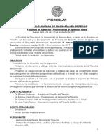 1ª Circular - III Interescuelas de Filosofia Del Derecho