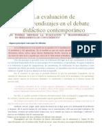 CELMAN Susana, Es Posible Mejorar La Evaluacion y Transformarla en Herramienta de Conocimiento (1)