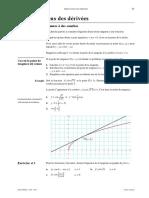 calcul des tangentes a des courbes