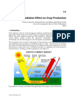 Solar Radiation Effect on Crop Production
