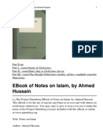 AhmedHussain Notes on Islam